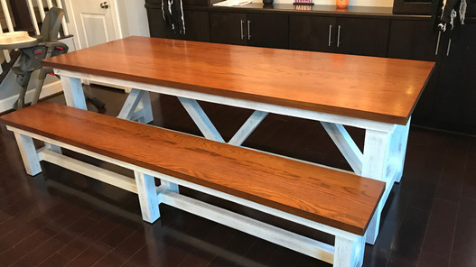 Rescue Woodworks picnic style Table