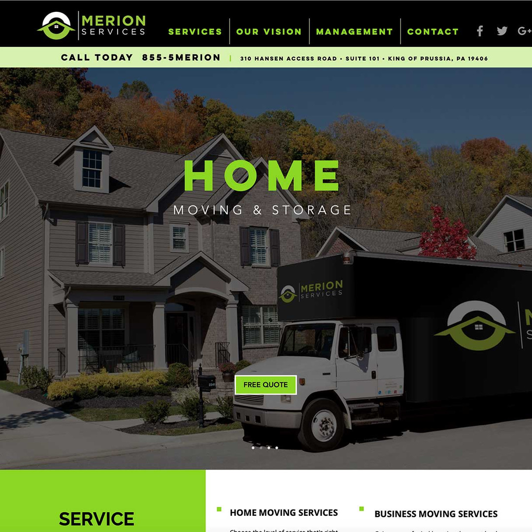 Merion Services website