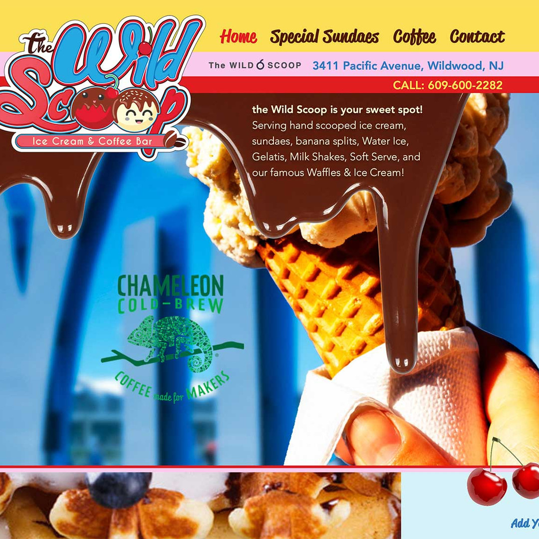 Wild Scoop Ice Cream website