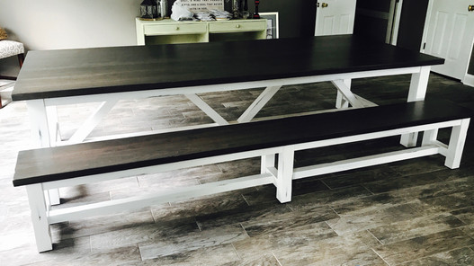 Rescue Woodworks Dark picnic style Table