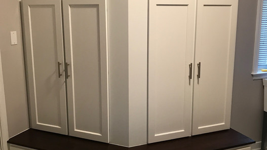 Rescue Woodworks laundry closet