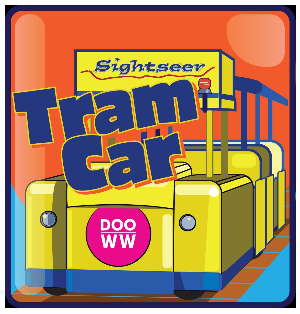 Tram Car Mobile App Icon