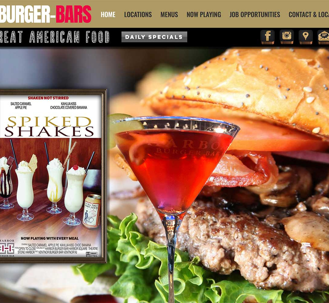 Harbor Burger Bar website
