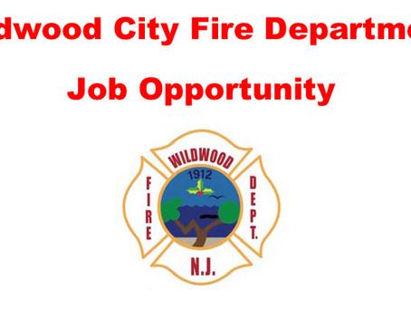 Wildwood City Fire Department Job Opportunity