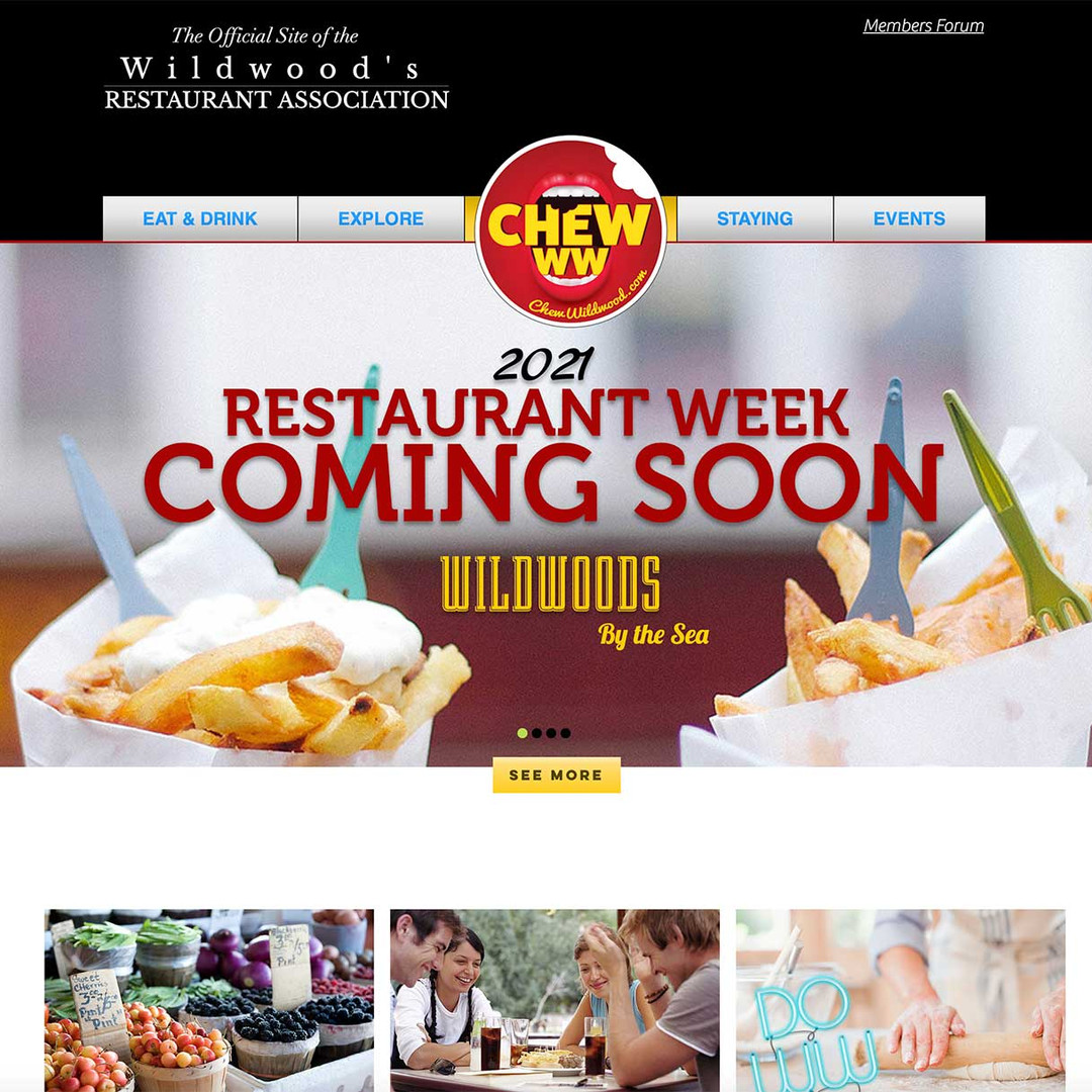 Wildwood Restaurant Association website