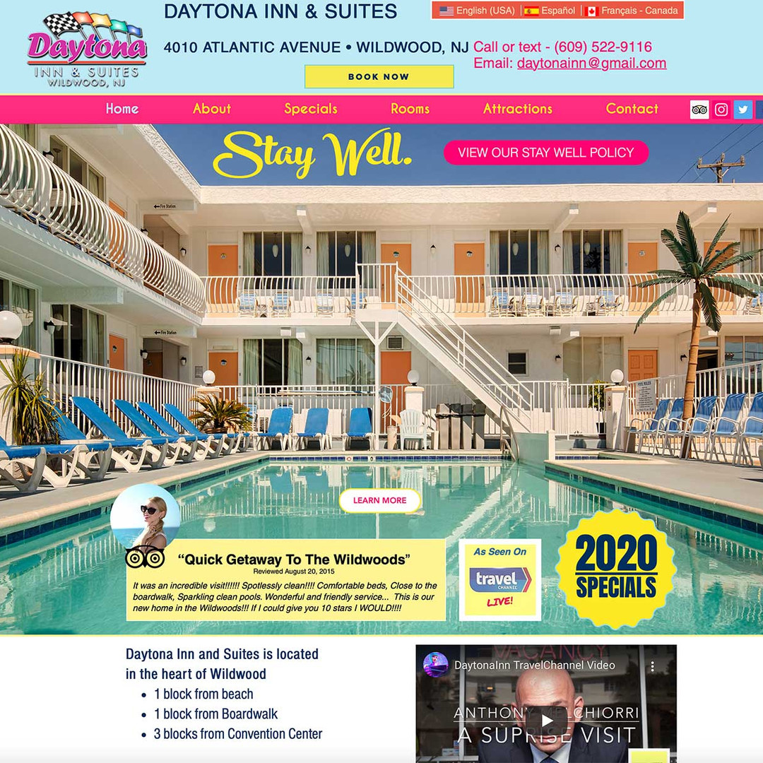 Daytona Inn & Suites website