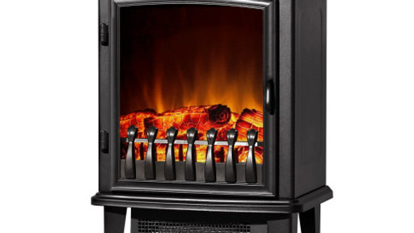 Devanti Electric Fireplace Wood Heater Portable Fire Log Flame Effect Winter War