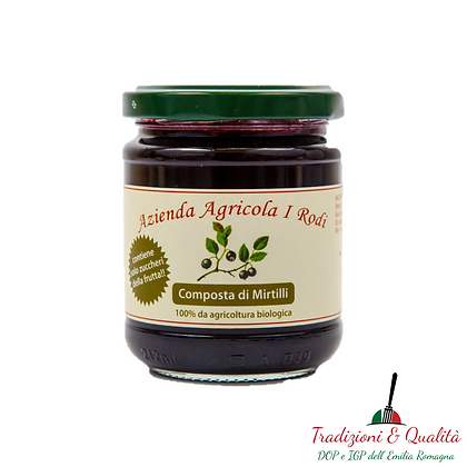 Organic blueberry compote