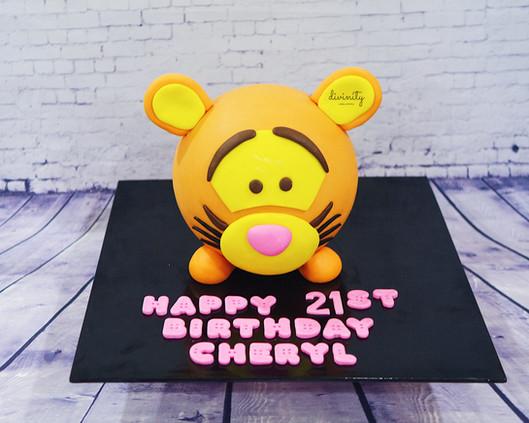 Tigger Smash Cake with money