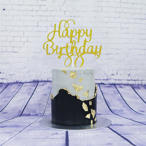 Monochrome & Gold Cake