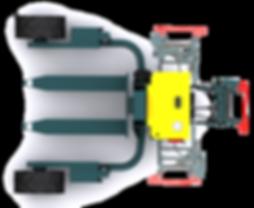 Transpalette tout terrain C12-04 vue de dessus