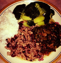 nutrition consulting, kidney beans with broccoli and rice