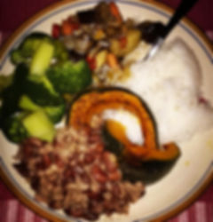nutrition consulting, kidney beans with rice and veggies