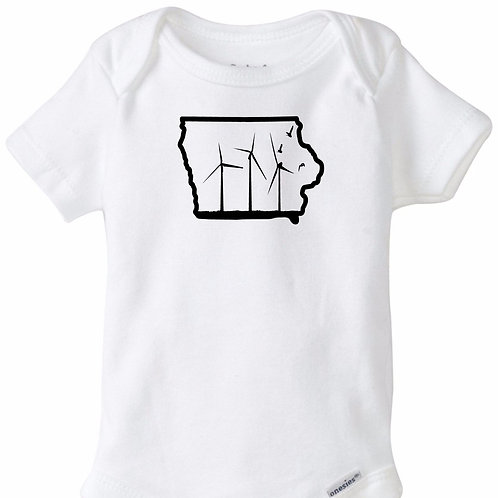 Iowa Windmills Infant Rip Snap Tee