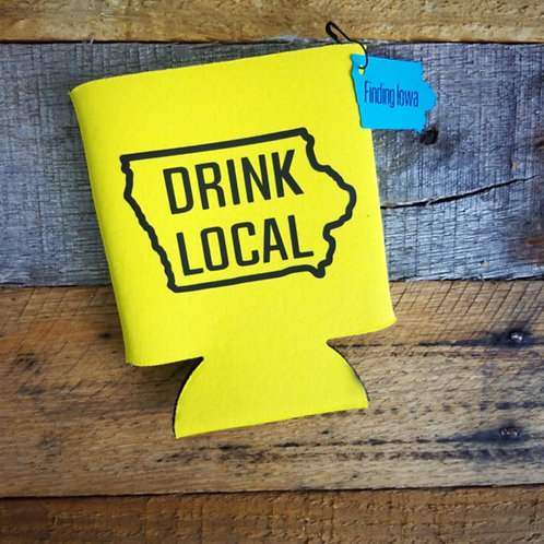 Iowa Drink Local Can Cooler