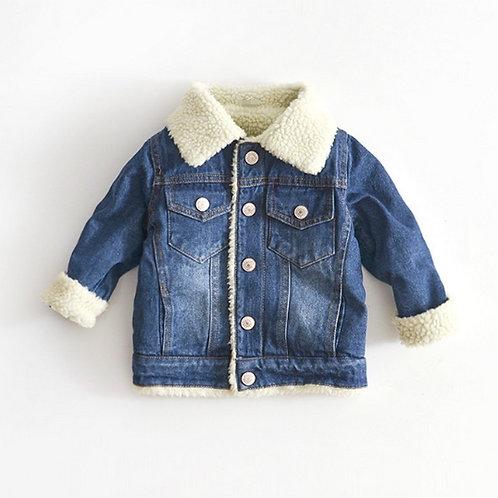 Children's Denim Cashmere Jacket