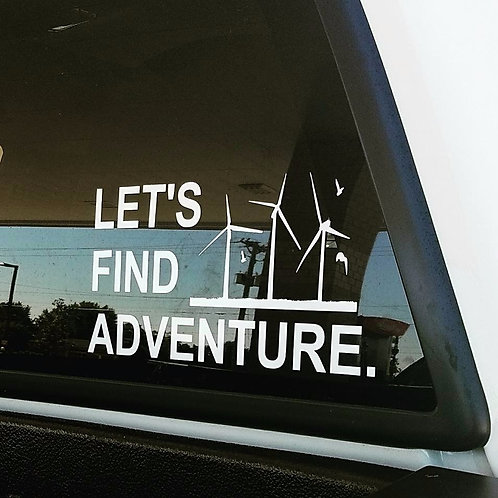 Lets Find Adventure Decal