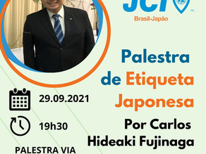 Palestra Etiqueta Japonesa com Carlos Fujinaga