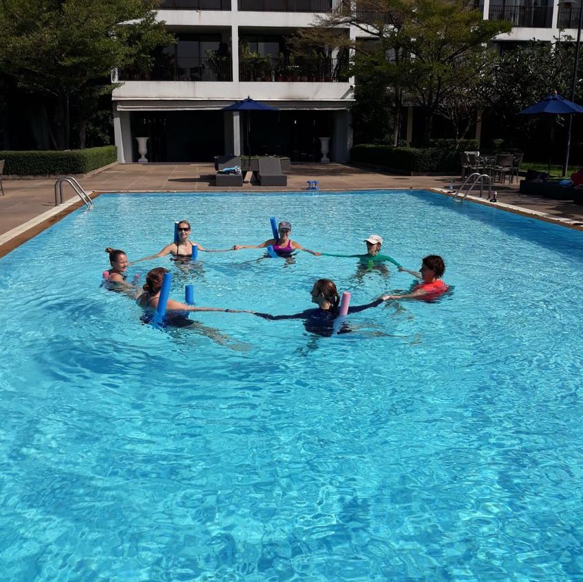 Aqua Aerobics circle