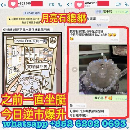 玻璃體純種月亮石手狐®配月亮石貔貅 (好評區5)