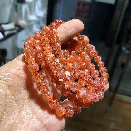 金草莓晶 (內含赤鐵礦)