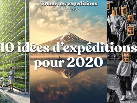 10 idées d'expéditions pour 2020