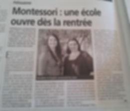 Une école Montessori ouvre à Pélissanne
