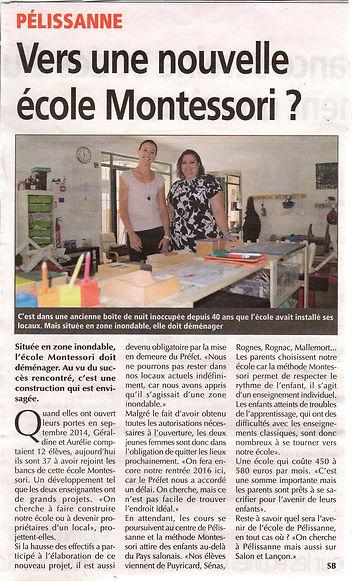 Vers une nouvelle école Montessori à pélissanne
