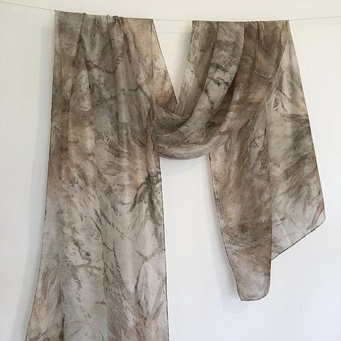 gum leaves floating on silk
