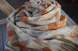 woollen wrap with plant dyes