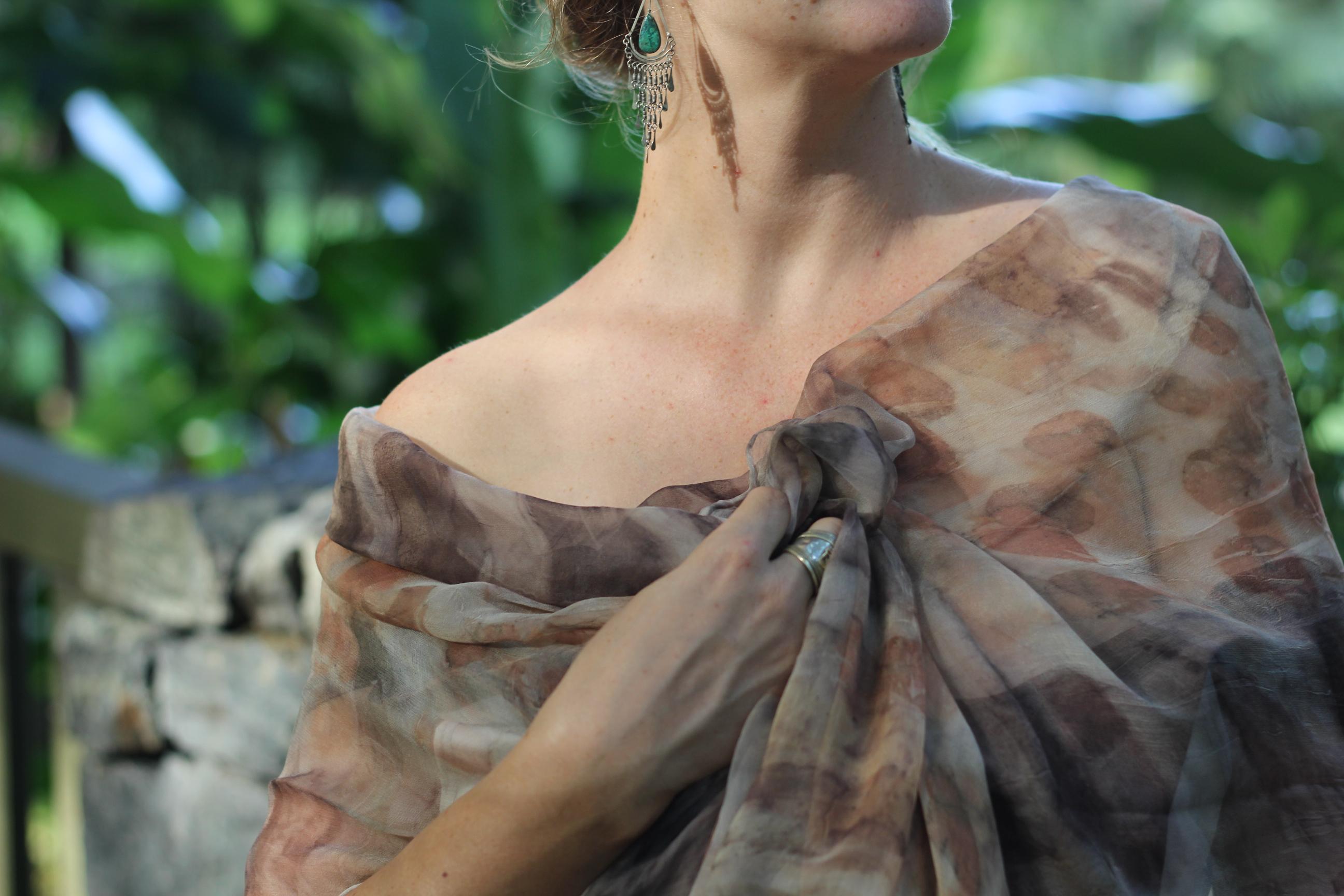 silk georgette natural dye
