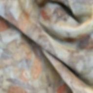 silk & wool wrap with botanic prints