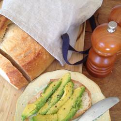 sour dough loaf with avocado