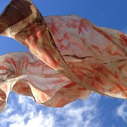 silk scarf in flight
