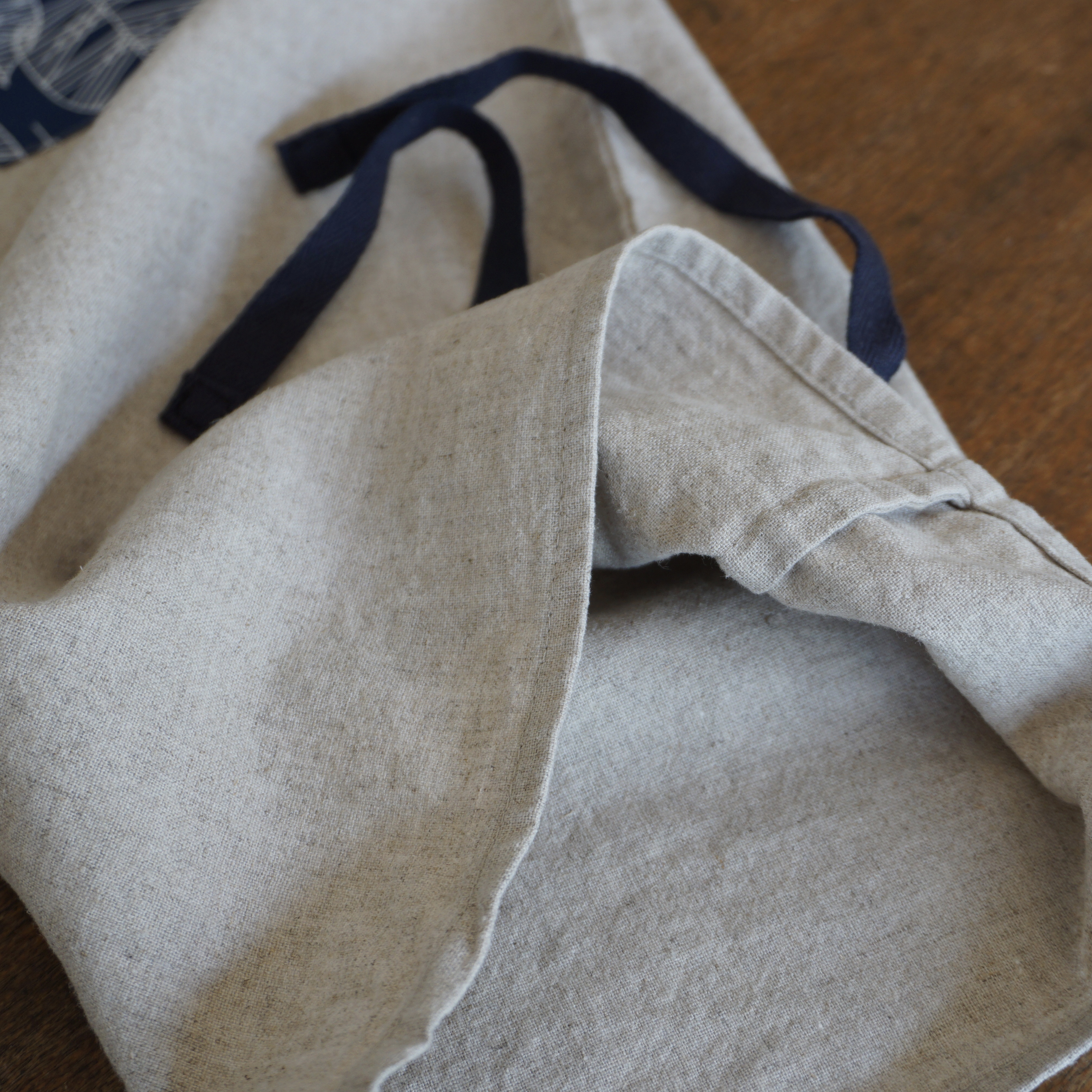 French seams on bread bag
