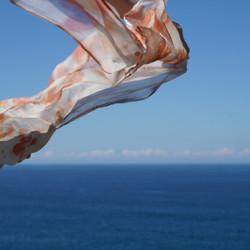 flying silk scarf