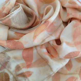natural dye silk scarf