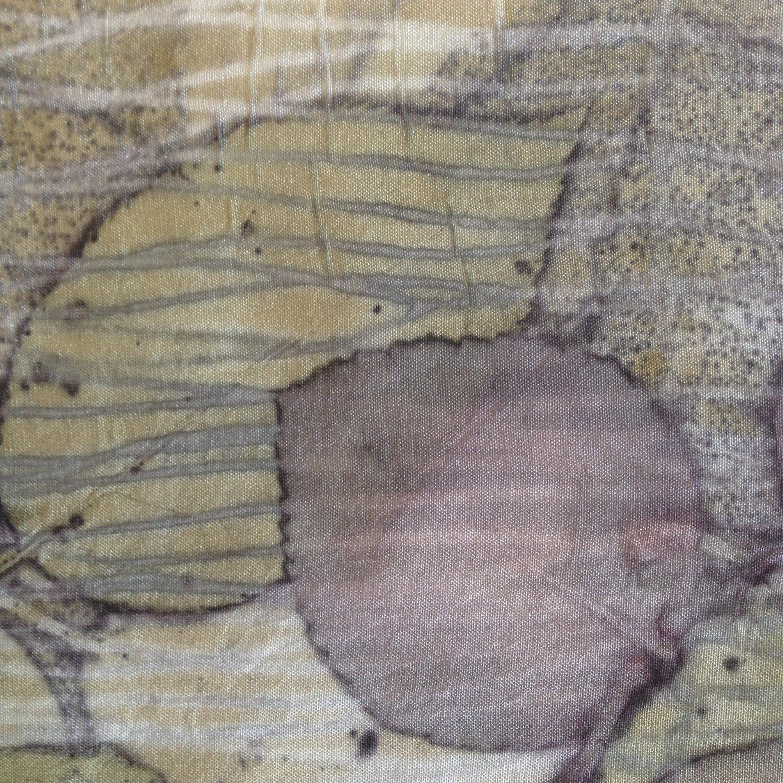 rose leaves printed on silk
