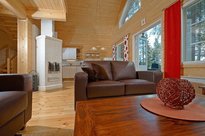 בית מעץ גמור- סלון