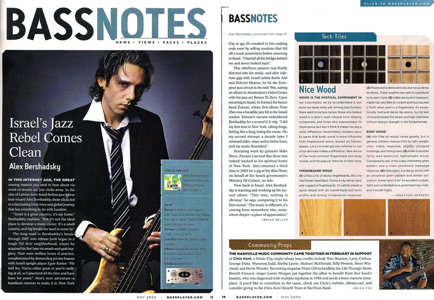 Bass player magazine USA