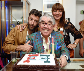 Ronnie Corbett at Four Candles opening