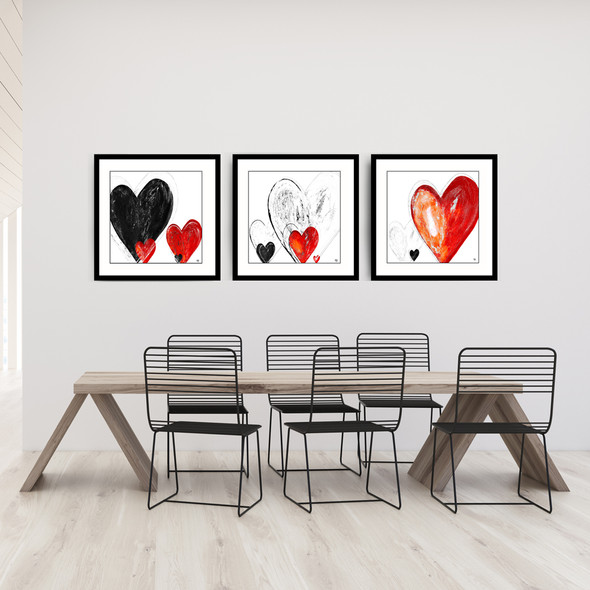 Heart painting by Stef Kerswell