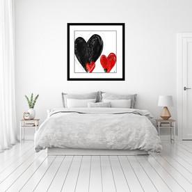 Modern art heart by Stef Kerswell