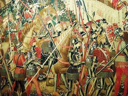 D. Afonso V para registar a conquista de Arzila e Tânger mandou tecer as Tapeçarias de Pastrana a fim de assinalar as suas conquistas.