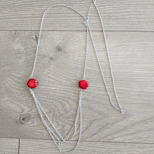 RED BEADS NECKLACE