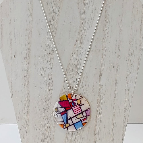 MONDRIAN PAINTING SHELL NECKLACE