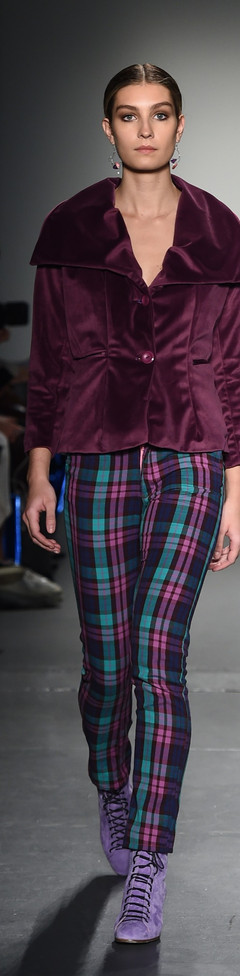 The Plaid and Wine Pantsuit F|W Runway 2
