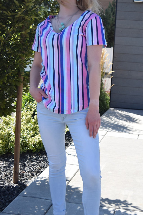 STRIPED COLORFUL TEE