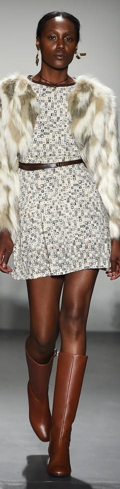 The 70's Dress and Fur Coat F|W Runway 2