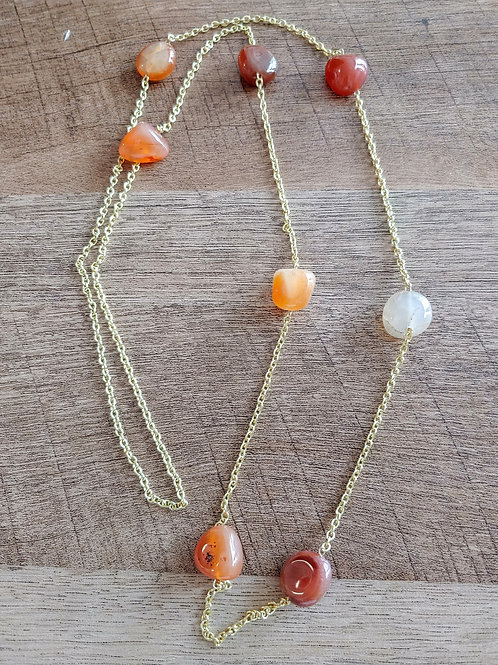 ORANGE STONES NECKLACE
